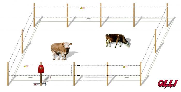 Электро заборы для животных своими руками